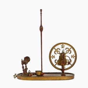 Antikes Louis XV Spinnrad aus Palisander, Veilchenholz & Vergoldung