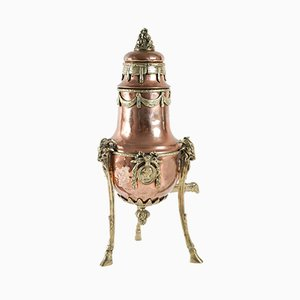19th Century Napoleon III Bronze and Copper Samovar