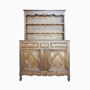 19th-Century Oak Sideboard Set