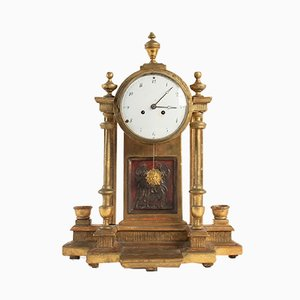 Antique Gilt Wood Pendulum Clock