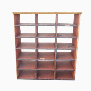 Antique Wooden Pigeon Hole Unit