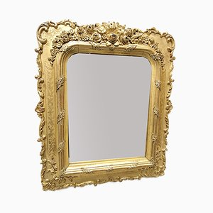 Antique French Golden Mirror, 1890s