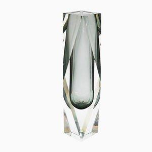 Jarrón Sommerso de cristal de Murano de Luigi Mandruzzato, años 60