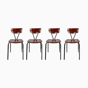 German Metal Dining Chairs from Pagholz Flötotto, 1950s, Set of 4