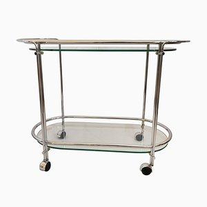 Italian Glass Trolley by Gae Aulenti for Fontana Arte, 1950s