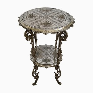 Antique German Cast Iron Side Table