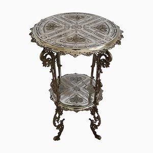 Antique German Cast Iron Side Table