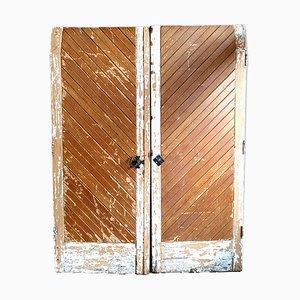 Puertas de granero vintage. Juego de 2