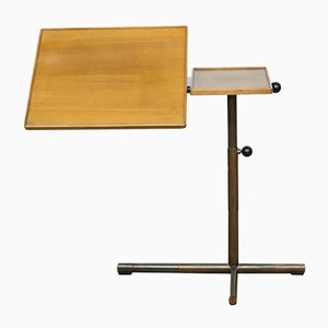 Metal and Wood Side Table by Georg Albert Ulysse Caruelle for Embru, 1980s