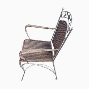 Italian Iron and Wicker Garden Set, 1960s