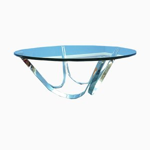 German Glass Coffee Table by Roger Sprunger for Dunbar, 1960s