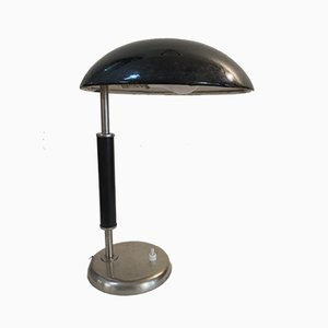 Art Deco Enamel Table Lamp, 1930s