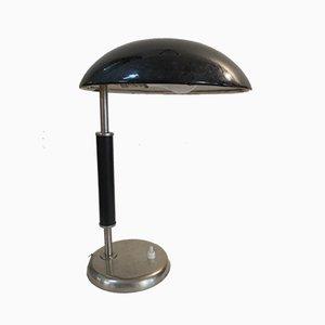 Emaillierte Art Déco Tischlampe, 1930er