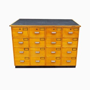 Mid-Century Beech Bank of Drawers, 1950s