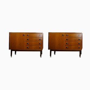 Teak Cabinets from CombinEurop, 1950s, Set of 2