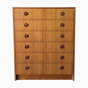 Mid-Century Scandinavian Modern Teak Chest of Drawers, 1960s