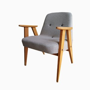 Mid-Century Polish Model 366 Easy Chair by Jozef Chierowski
