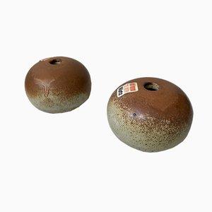 Jarrones Mushroom de Aage Würtz para Würtz Studio, años 70. Juego de 2
