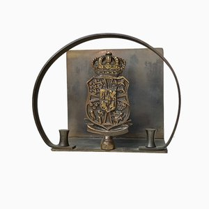 Art Deco Danish Bronze Napkin Holder from Nordisk Malm, 1930s