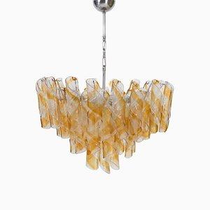 Lámpara de araña Shirley Temple italiana vintage de vidrio de Mazzega, años 70