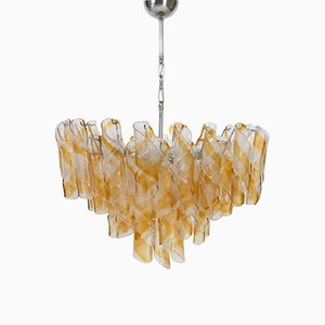 Vintage Italian Glass Shirley Temple Chandelier from Mazzega, 1970s