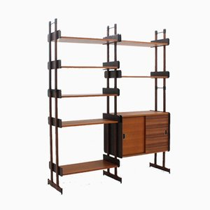 Mid-Century Italian Rosewood & Teak Wall Unit from La Sorgente Mobili, 1950s