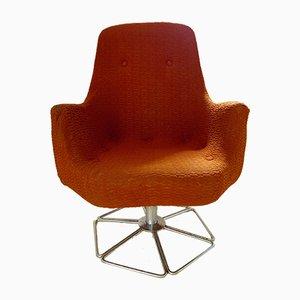 Swivel Armchair with a Chrome-Plated Base, 1950s