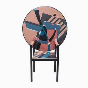 Postmodern Italian Zabro Armchair Table by Alessandro Mendini for Edition Divisione Nuova Alchimea, 1980s