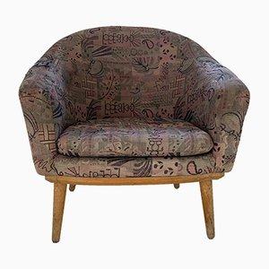 Mid-Century Sessel mit Gestell aus Buche, 1950er