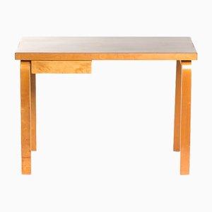 Schreibtisch aus Birke & Linoleum von Alvar Aalto für Artek, 1940er