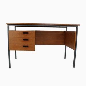 Moderner niederländischer Schreibtisch aus Metall & Teak, 1960er