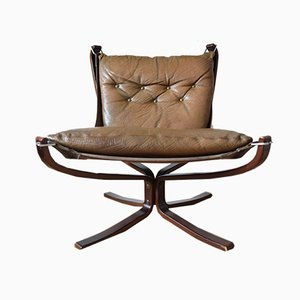Chaise à Dossier Bas Falcon par Sigurd Ressell pour Vatne Møbler, 1970s