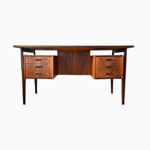 Schwebender dänischer Mid-Century Schreibtisch aus Palisander, 1960er