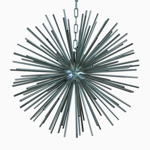 Mid-Century Tubular Metal Decorative Pendant