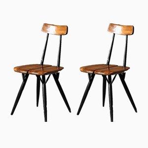 Pirkka Stühle von Ilmari Tapiovaara für Laukaan Puu, 1960er, 2er Set