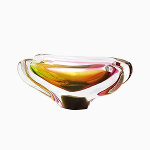 Bowl by M. Velíšková for Skrdlovice Sklarna, 1960s