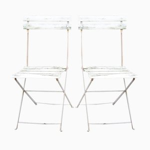 Vintage Metal Garden Chairs, 1930s, Set of 2