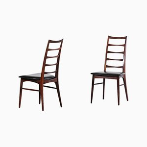 Chaises de Salle à Manger Vintage en Skaï et Palissandre par Niels Koefoed, 1960s, Set de 8