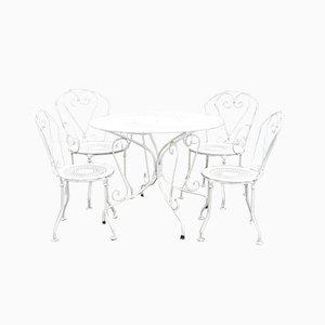 Tables de Jardin Vintage en Métal, 1930s, Set de 4