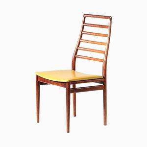 Sedie da pranzo in similpelle e teak, anni '60, set di 6