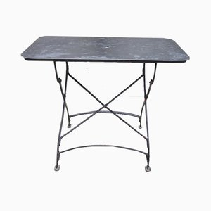 Tavolo da giardino vintage in metallo, anni '30
