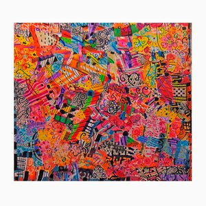 Collage e dipinto Sin Título 2 di Daniel Meakin, 2016
