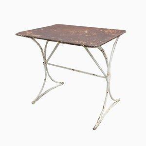 Mesa de jardín vintage de metal, años 30