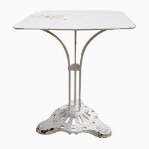 Mesa de jardín vintage de hierro fundido, años 30