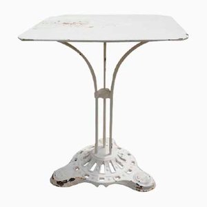 Vintage Cast Iron and Metal Garden Table, 1930s