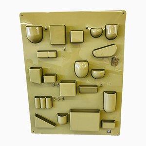 Mueble de pared alemán era espacial ABS de Dorothee Becker para design M, años 70