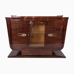 Art Deco French Rio Rosewood Tulip Shaped Sideboard, 1930s
