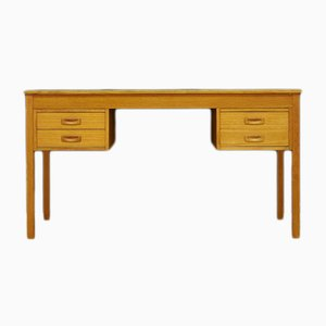 Mid-Century Danish Ash and Veneer Desk, 1960s