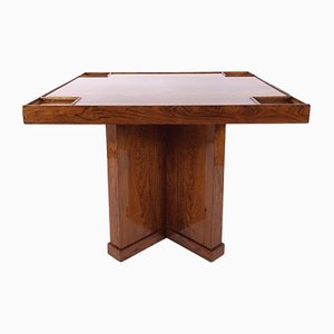 Art Deco French Rio Rosewood Veneer Game Table, 1930s
