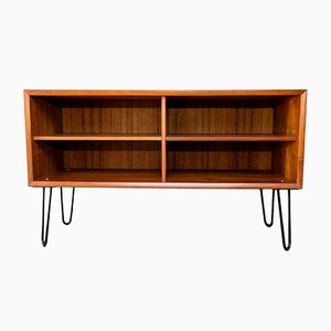 Danish Steel and Teak Shelf by H. W. Klein for Bramin, 1960s